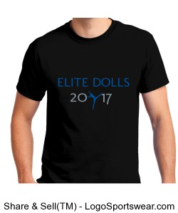 "BLACK S/S ""DOLLS"" TEE Design Zoom"